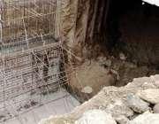 کراچی: نمائش چورنگی میٹرو انڈر پاس کا کام انتہائی سست روی کا شکار ہے ..