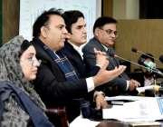 اسلام آباد: وفاقی وزیر اطلاعات چوہدری فواد حسین وفاقی کابینہ کے اجلاس ..