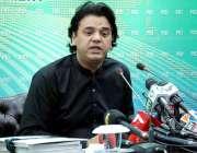 اسلام آباد: وزیر اعظم کے معاون خصوصی برائے یوتھ افیئر محمد عثمان پریس ..