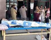 راولپنڈی:بی بی ایچ ہسپتال میں ینگ ڈاکٹر کی ہڑتال کے باعث مریضوں کو شدید ..