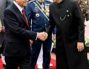 اسلام آباد: صدر مملکت ڈاکٹر عارف علوی ، ملائیشین وزیر اعظم ڈاکٹر مہاتیر ..
