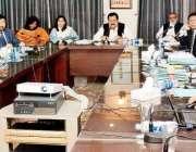 کراچی: وفاقی وزیر ہاؤسنگ اینڈ ورکس چوہدری طارق بشیر چیمہ ایک اجلاس ..