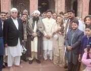 لاہور: پیپلز پارٹی لاہور کے رہنما چوہدری محمد اکرم کی بیٹی کے نکاح کے ..