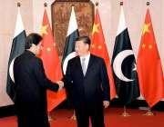 بیجنگ: چینی صدر شی جنپنگ نے وزیر اعظم عمران خان کا بیجنگ میں استقبال ..