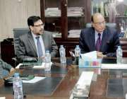 لاہور: صوبائی وزیر قانون ، پارلیمانی امور و بلدیات محمد بشارت راجہ ..