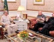 لاہور: صدر مملکت ڈاکٹر عارف علوی سے گورنر پنجاب چوہدری محمد سرور ملاقات ..