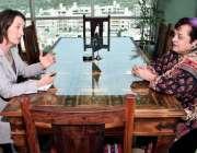 اسلام آباد: وفاقی وزیر برائے انسانی حقوق ڈاکٹر شیرین مزاری سے ڈچ کی ..