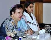 اسلام آباد: وفاقی وزیر برائے انسانی حقوق ڈاکٹر شیریں مزاری کانفرنس ..