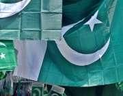 راولپنڈی: جشن آزادی کے سلسلے میں دکانداروں نے پاکستانی پرچم فروخت کے ..