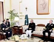 اسلام آباد: صدر مملکت ڈاکٹر عارف علوی سے کمانڈرقطر امیری نیول فورسز، ..