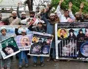 پشاور: عافیہ موومنٹ کے زیر اہتمام کارکنان ڈاکٹر عافیاہ کی رہائی کے ..