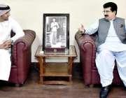 اسلام آباد: چیئرمین سینٹ محمد صادق سنجرانی سے یو اے ای کے سفیر عبید ..