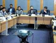 اسلام آباد:سینیٹر آغا شہزاد درانی چیئرمین سینیٹر سٹینڈنگ کمیٹی آن ..