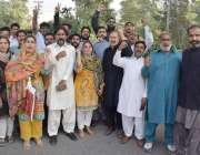 لاہور: مسلم لیگ (ن) کی نائب صدرمریم نواز کی احتساب عدالت پیشی کے موقع ..