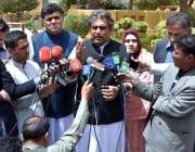 کوئٹہ: وفاقی وزیر برائے سمندری امور سید علی حیدر زیدی میڈیا سے گفتگو ..