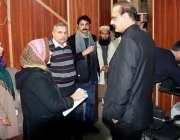 اسلام آباد: وفاقی وزیرِ صحت عامر محمود کیانی فیڈرل جنرل ہسپتال چک شہزاد ..