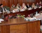 پشاور: گورنر خیبر پختونحوا شاہ فرمان ہزارہ یونیورسٹی کے سینٹ اجلاس ..