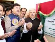 شانگلہ: وزیر اعلیٰ خیبر پختونخوا محمود خان اور وزیر اطلاعات و تعلقات ..