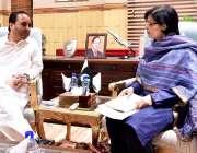 اسلام آباد: وزیر اعلیٰ گلگت بلتستان حافظ حفیظ الرحمن سے وزیر اعظم کے ..