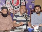 لاہور: مختلف کتابوں کے مصنف سید اظہر عباس پریس کانفرنس کر رہے ہیں۔