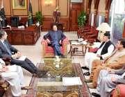 اسلام آباد: وزیر اعظم عمران خان سے صدر بلوچستان نیشنل پارٹی (ایم) سردار ..