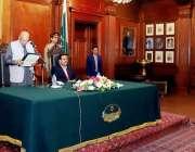 لاہور: گورنر پنجاب چوہدری محمد سرور مسلم لیگ (ق) کے رکن پنجاب اسمبلی ..