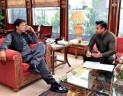 اسلام آباد: وزیر اعظم عمران خان سے مشیر اوورسیز پاکستانیز سید ذوالفقار ..