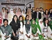 """فیصل آباد: جی سی ویمن یونیورسٹی فیصل آباد میں """"ویمن لیڈرز سمٹ"""" کے دوران .."""