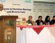 اسلام آباد: پیٹر جیکب چیئرمین پبلک کمیشن فارمائنارٹی رائٹس کانفرنس ..