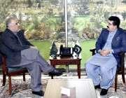 اسلام آباد: چیئرمین سینیٹ محمد صادق سنجرانی اور سپیکر قومی اسمبلی اسد ..