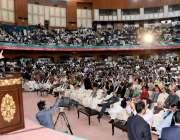 اسلام آباد: وزیر اعظم عمران خان تحریک انصاف کے یوم تاسیس کے کنونش سے ..