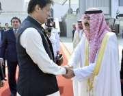 جدہ: گورنر جدہ شہزادہ مشال بن ماجد آل سعود نے وزیر اعظم عمران خان سے ..