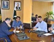 اسلام آباد: وفاقی وزیر انفارمیشن ٹیکنالوجی اینڈ ٹیلی کمیونیکیشن ڈاکٹرخالد ..