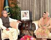 اسلام آباد: صدر مملکت ڈاکٹر عارف علوی سے وزیر اعظم کی معاون خصوصی برائے ..