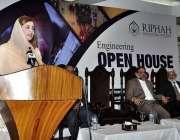 اسلام آباد: وزیر مملکت برائے موسمیاتی تبدیلی زرتاج گل (انجینئرنگ اوپن ..