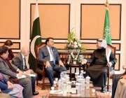 اسلام آباد: وفاقی وزیر اطلاعات و نشریات فواد حسین چودھری سعودی میڈیا ..