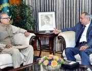 اسلام آباد: صدر مملکت ڈاکٹر عارف علوی سے وزیر اعظم کے معاون خصوصی برائے ..