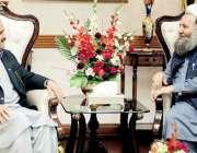 لاہور: وزیراعلی پنجاب سردار عثمان بزدار سے وزیراعلی آفس میں وفاقی وزیر ..
