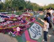 راولپنڈی: ایوب پارک میں جشن بہاراں کے موقع پر منعقدہ پھولوں کی نمائش ..