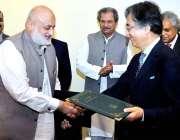 اسلام آباد: وفاقی وزیر برائے وفاقی تعلیم و پیشہ ورانہ تربیت ، شفقت محمود ..