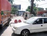 راولپنڈی: ڈی ایچ کیو ہسپتال میں آؤٹ گیٹ پر گاڑی کھڑی کر کے آؤٹ گیٹ بندکیا ..