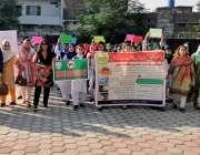 راولپنڈی: گورنمنٹ کا لج ڈھوک رتہ میں پرنسپل کنیز فاطمہ ڈینگی آگاہی ..