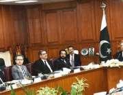 اسلام آباد: چیف جسٹس آف پاکستان جسٹس آصف سعید کھوسہ چیئرمین این جے پی ..