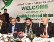راولپنڈی: وفاقی وزیر ریلوے شیخ رشید احمد راولپنڈی چیمبر آف کامرس اینڈ ..