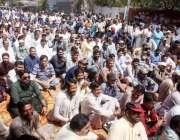 حیدر آباد: واپڈا ہائیڈرو الیکٹرک ورکرز یونین کے زیر اہتمام مطالبات ..