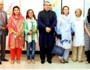 اسلام آباد: خاتون اول محترمہ ثمینہ علوی پی این سی اے میں محترمہ رحمت ..