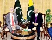 اسلام آباد: صدر آزاد کشمیر سردار مسعود خان سے ممبران یورپین پارلیمنٹ ..