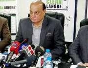 """لاہور: صوبائی وزیر قانون، پارلیمانی امور بلدیات محمد بشارت راجہ """"کلین .."""