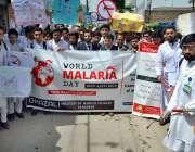 پشاور: ملیریا کے عالمی دن کی مناسبت سے آگاہی واک کی جا رہی ہے۔