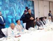 اسلام آباد: چیئرمین پیپلز پارٹی بلاول بھٹو زرداری ظہرانے کے موقع پر ..